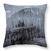Natures Frozen Cathedral Sculpture Throw Pillow