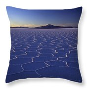 Natures Geometry Salar De Uyuni Throw Pillow