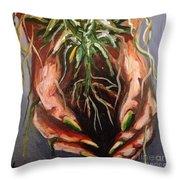 Natures Hands Throw Pillow