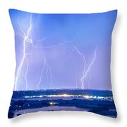 Natures Light Show Over The Boulder Reservoir  Throw Pillow by James BO  Insogna