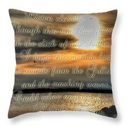 Natures Melody With Text Throw Pillow
