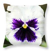 Nature's Purple Angel Throw Pillow
