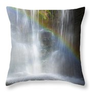 Natures Rainbow Falls Throw Pillow