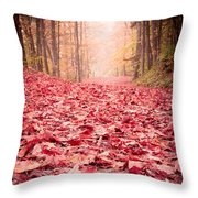 Nature's Red Carpet Revisited Throw Pillow