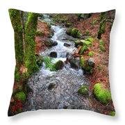 Nature's Rush Throw Pillow