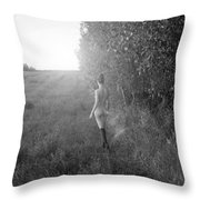 Nature's Sweet Caress Throw Pillow