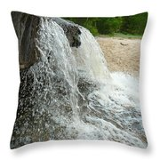 Natures Water Fountain Throw Pillow
