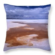 Natures Watercolours On The Salar De Uyuni Throw Pillow