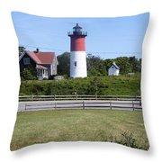 Nauset Light - Chatham Throw Pillow