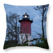 Nauset Lighthouse Amid The Scrub Pines Throw Pillow