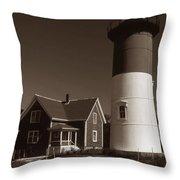 Nauset Lighthouse Throw Pillow