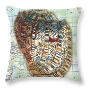 Nautical Journey-d Throw Pillow