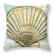Nautical Journey-f Throw Pillow