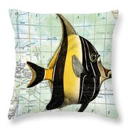 Nautical Journey-h Throw Pillow by Jean Plout