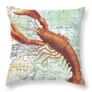Nautical Journey-i Throw Pillow by Jean Plout