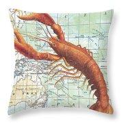 Nautical Journey-i Throw Pillow
