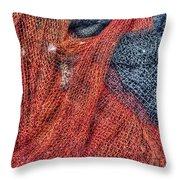 Nautical Nets Throw Pillow by Heidi Smith