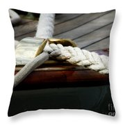 Nautical Textures Throw Pillow