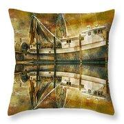 Nautical Timepiece Throw Pillow