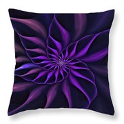Nautilus Fractalus Moongarden Throw Pillow