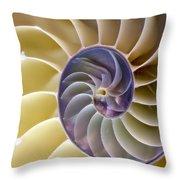 Nautilus Side View Throw Pillow
