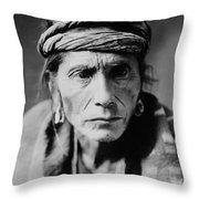 Navajo Man Circa 1905 Throw Pillow by Aged Pixel