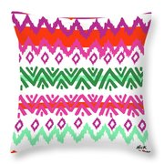 Navajo Mission Round Throw Pillow
