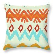 Southwest Pattern I Throw Pillow by Nicholas Biscardi