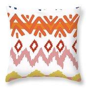 Southwest Pattern IIi Throw Pillow by Nicholas Biscardi