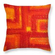 Navajo Rug Original Painting Throw Pillow