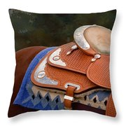 Navajo Silver And Basketweave Throw Pillow