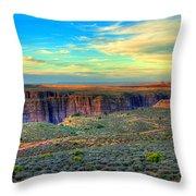 Navajo Sunset Throw Pillow