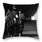 Navajo's Dance  Night Fire Rodeo Grounds Inter-tribal Indian Rodeo Gallup New Mexico 1969 Throw Pillow
