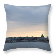 Naval Academy By Day Panorama Throw Pillow