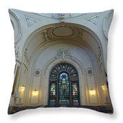 Naval Academy Chapel Side Portal Throw Pillow
