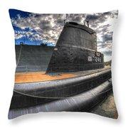 Naval Base At Erie Basin Marina Throw Pillow