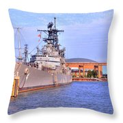Naval Park Throw Pillow