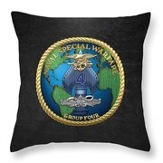 Naval Special Warfare Group Four - N S W G-4 - On Black Throw Pillow