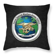 Naval Special Warfare Group Three - Nswg-3 - On Black Throw Pillow