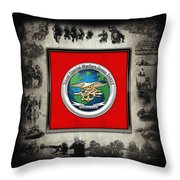 Naval Special Warfare Group Three - N S W G-3 - Over Navy S E A Ls Collage Throw Pillow