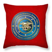 Naval Special Warfare Group Two - N S W G-2 - On Red Throw Pillow