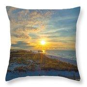 Navarre Beach Sunrise 2014 09 26 01 C 0650 Throw Pillow