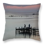 Navarre Beach Sunset Pier 30 Throw Pillow