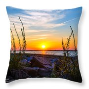 Navarre Fl Sunset 2014 07 29 A Throw Pillow