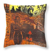 Nave Nave Fenua From The Noa Noa Series Throw Pillow