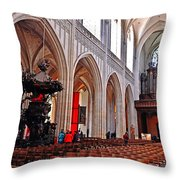 Nave Of The Church Of Our Lady Throw Pillow