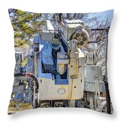 Navel  Gun Loders Eye View Throw Pillow