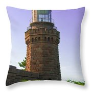 Navesink Twin Lights Lighthouse Throw Pillow