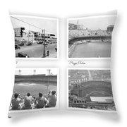 Navin Field Briggs Tiger Stadium Comerica Park Throw Pillow