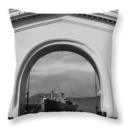 Navy Archway Throw Pillow